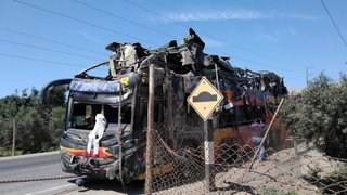 Solicitarán prisión preventiva para chofer de bus de empresa Cruz del Sur