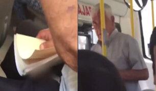 Joven denuncia y graba a anciano que se masturbaba a su lado en bus de transporte público