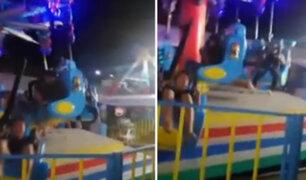 Dos niñas sufren terrible accidente al caer de juego mecánico en Filipinas