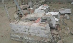Piura: muro se desploma y acaba con al vida de dos menores