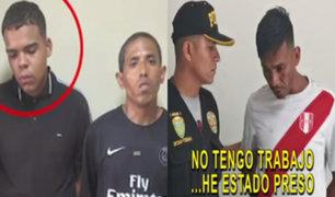 Capturan a delincuentes que operaban en inmediaciones de Gamarra