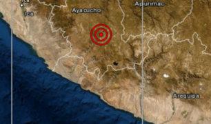 Ayacucho: sismo de magnitud 4.0 sacudió la región