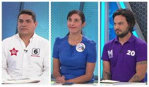Renzo Ibáñez, Alexandra Ames y Daniel Olivares plantean sus propuestas de llegar al Congreso