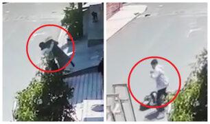 Arequipa: ladrón tumba al piso a mujer para robarle cartera