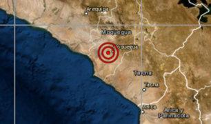 Sismo de magnitud 3.3 se registró en Moquegua esta mañana