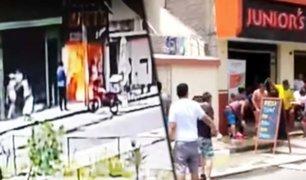Comas: seis heridos deja deflagración de balón de gas en pollería