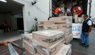 Voto Responsable: ONPE inició distribución de material electoral al interior del país