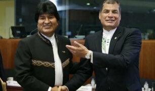 """Rafael Correa envía mensaje a Evo Morales: """"Ánimo, resistiremos y venceremos"""""""