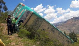 Áncash: veintiocho heridos dejó desbarrancamiento de bus interprovincial