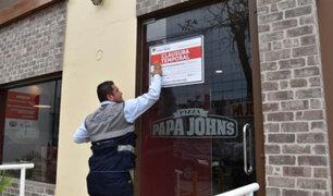 Municipio de Jesús María  clausuró local de Papa John's