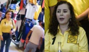 """Campaña electoral: Rosa Bartra visita mercado y la califican de """"corrupta"""""""