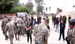 Chorrillos: vacaciones útiles con la Brigada de Fuerzas Especiales