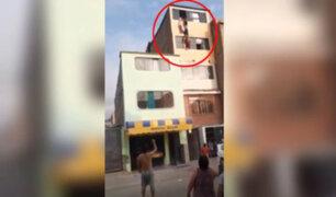Surco: mujer intentó lanzarse del quinto piso para no ser agredida por su pareja