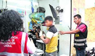 Gamarra: menores de edad fueron encontrados trabajando en emporio comercial