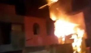 Jaén: voraz incendio redujo a cenizas vivienda
