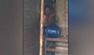 Piura: sujeto trató de hacer explotar balón de gas para evitar ser detenido