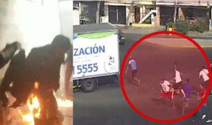 Surco: ataque con bomba molotov dejó en total 11 fiscalizadores heridos