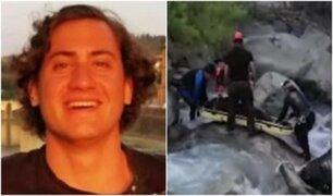 Así fue el rescate del cadáver de joven desaparecido en río Cañete