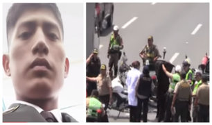 Panamericana Sur: testigos narran cómo fue atropellado policía motorizado por camión