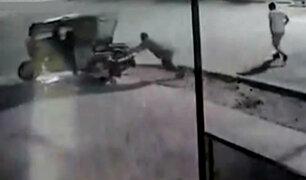 Piura: roban mototaxi estacionada en cuestión de segundos