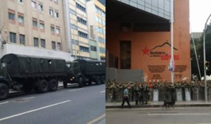 Venezuela: paramilitares disparan contra auto de Guaidó e impiden ingreso de Asamblea Nacional