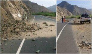 Huarmey: reportan deslizamientos tras sismo de 5.4 de magnitud