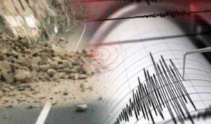 Huarmey: sismo de 5.4 grados causó desprendimiento de piedras en carretera de Ayhuay