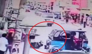 Cañete: mototaxista atropella a sereno para evitar intervención