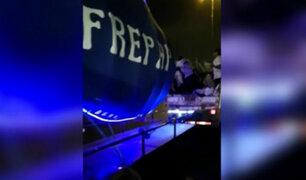 Panamericana Sur: Simpatizantes de candidato de Frepap viajan en tolva de camión