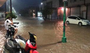 Argentina: fuertes lluvias convirtieron calles de Tucumán en ríos