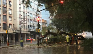 Fuertes vientos y torrenciales lluvias azotan a diversas ciudades brasileñas