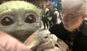 Star Wars: George Lucas conoció finalmente a Baby Yoda