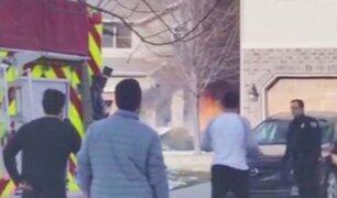 EEUU: avioneta se estrella y explota en Utah