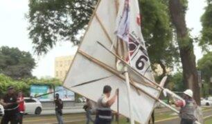 Partidos políticos serán multados con S/4300 si colocan propagandas en zonas prohibidas