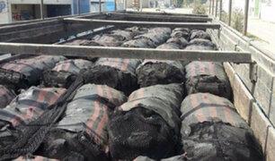 Huarmey: intervienen  camión con más de 300 sacos de carbón de algarrobo