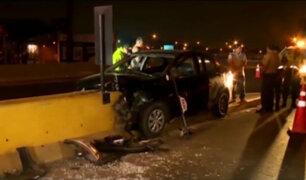 SMP: choque de auto contra muro de contención deja un muerto y un herido