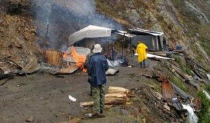 Áncash: destruyen campamento minero informal instalado en parque nacional