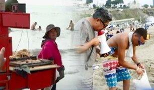 Así reaccionan algunos veraneantes de Agua Dulce tras ser increpados por ensuciar la playa