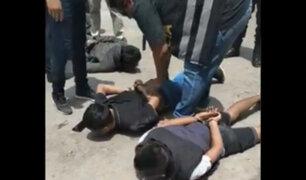 Comas: capturan a tres delincuentes que minutos antes asaltaron un grifo