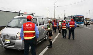 El Agustino: ATU llevó a cabo operativo contra el transporte informal en Puente Nuevo