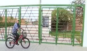 Autoridades no se pronuncian por instalación de reja que divide Miraflores y San Isidro
