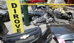 Chosica: Policía recupera vehículos y varias autopartes robadas tras operativo