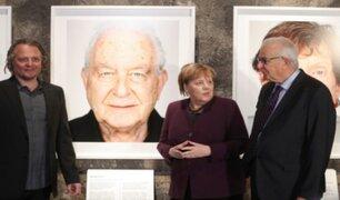 Angela Merkel homenajea a los sobrevivientes de Auschwitz