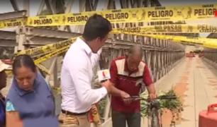 MML anunció que brindará mantenimiento a puente Bailey que está sobre río Huaycoloro