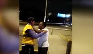 SJL: conductor golpea a fiscalizador y luego se da a la fuga