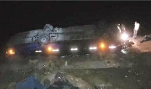 Arequipa: caída de bus a un abismo deja cuatro muertos y 17 heridos