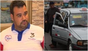 Guillermo Aliaga, el candidato que busca formalizar el servicio de taxi colectivo