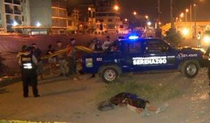 Los Olivos: policía aparentemente ebrio choca y provoca muerte de peatón