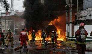 VES: Sedapal anunció medidas para apoyar a bomberos tras explosión de camión cisterna