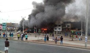 Villa El Salvador: siete niños fueron trasladados de emergencia al INSN tras incendio